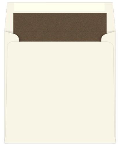 6 12 x 6 12 Matte Chocolate - Single Lined Ecru Envelopes 25 pack