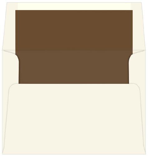 A7 Matte Chocolate Single Lined Envelopes Ecru 25 pack