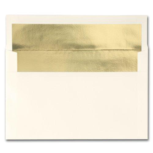 Fine Impressions Ecru Envelopes with Gold Liner - A10 6 x 9 12 70 lb Text Vellum - 250 per Box