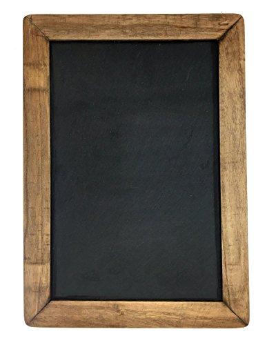 Vintage Framed Slate Kitchen Chalkboard 10 x 14 - Decorative Chalk Board for Rustic Wedding Signs Kitchen Pantry Wall Decor