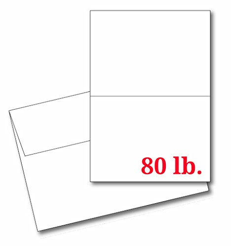 4 14 x 5 12 Heavyweight Blank White Greeting Card Sets - 30 Cards Envelopes - Make Your Own Cards Invites