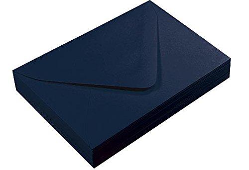 A1 Dark Navy Blue Euro Flap Envelopes Gmund Colors Matt 81lb 25 pack