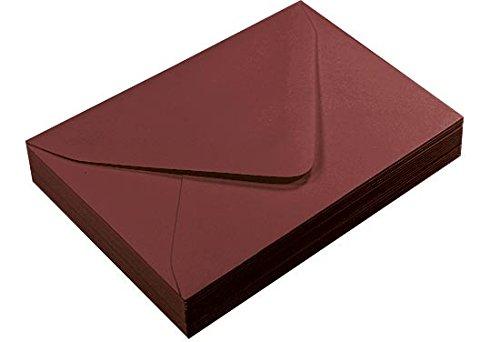 A1 Merlot Euro Flap Envelopes Gmund Colors Matt 68lb 25 pack