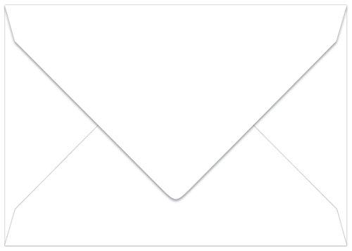 Radiant White Euro Flap Envelopes A7 5 14 x 7 14 LCI Smooth 70lb 25 pack