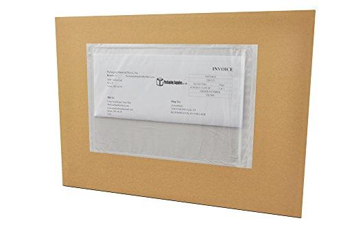 6 x 9 Clear Re-closable Packing List Enclosed Envelope Plain Face Back Load 2 Mil 2000 pcs