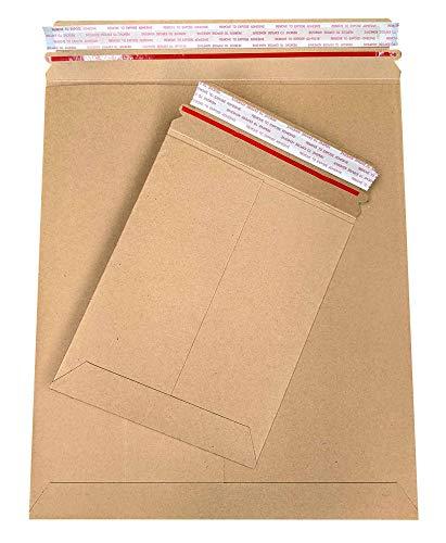 975x1225 Cardboard Mailers Shipping Envelopes Flat Rigid Mailer 975 x 1225 inch Kraft Brown Peel Seal 100 Pack
