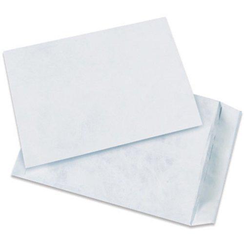 Quality Park TYF1015WH Tyvek Olefin Flat Envelope 15 Length x 10 Width White Case of 100