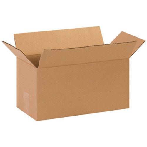 Aviditi 1477 Long Corrugated Box 14 Length x 7 Width x 7 Height Kraft Bundle of 25