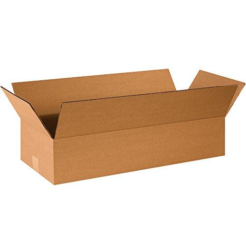 Aviditi 24104 Single-Wall Corrugated Box 24 Length x 10 Width x 4 Height Kraft Bundle of 25