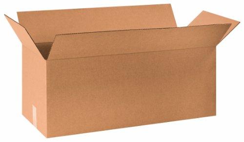 Aviditi 301010 Corrugated Box 30 Length x 10 Width x 10 Height Kraft Bundle of 20