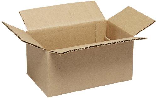 Aviditi 854 Single-Wall Corrugated Box 8 Length x 5 Width x 4 Height Kraft Bundle of 25