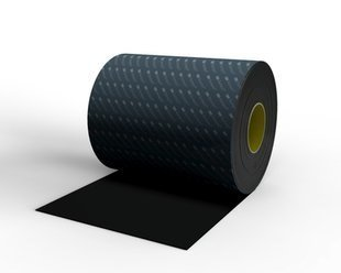 3M Bumpon SJ5916 Black BumperSpacer Roll - 9 in Width x 116 in Height - 52818 PRICE is per ROLL