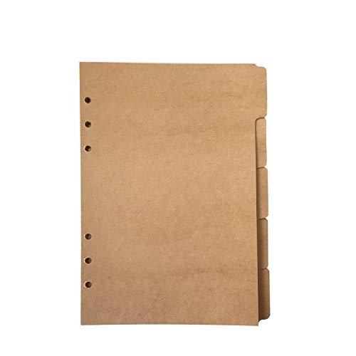 A5 Divider Vertical Brown Paper Kraft Paper