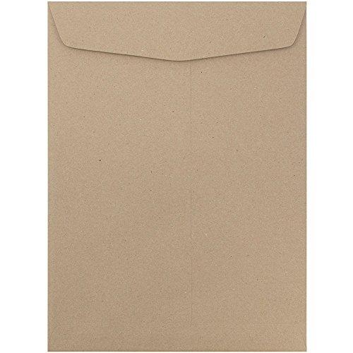 JAM PAPER 10 x 13 Open End Catalog Premium Envelopes - Brown Kraft Paper Bag - 25Pack