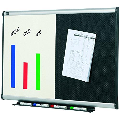 Quartet Combination Whiteboard Bulletin Board 3 x 2 Embossed Foam Prestige Aluminum Frame BTE643A