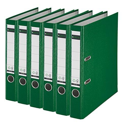 Leitz 2-Ring 2-Inch Premium A4 Sized European Binders 6-Pack Green