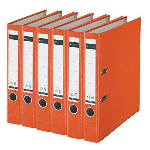 Leitz 2-Ring 2-Inch Premium A4 Sized European Binders 6-Pack Orange