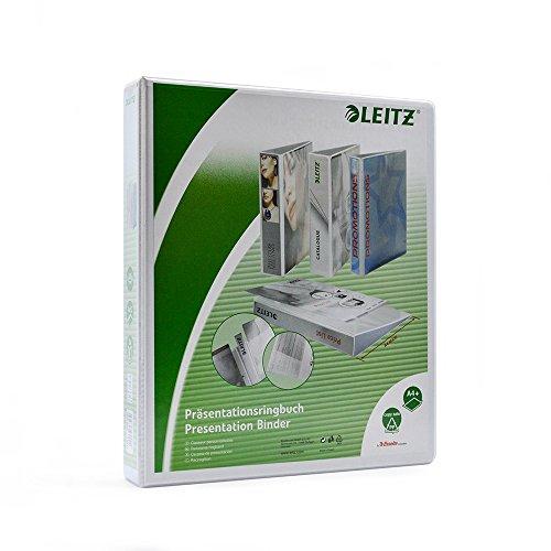 Leitz 4-Ring 175-Inch Premium A4 Sized European View Binders White