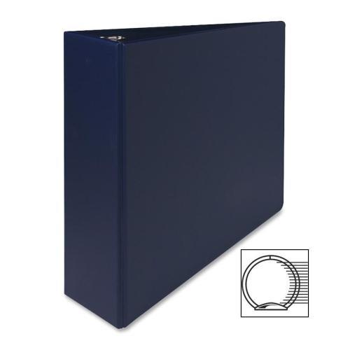 03601 Sparco Round Ring Binder - 3 Binder Capacity - Letter - 850 Width x 11 Length Sheet Size - 3 x Round Ring Fastener - 2 Pockets - Vinyl - Dark Blue - 1 Each