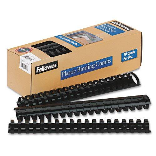 Fellowes - Plastic Comb Bindings 1-12 Diameter 340 Sheet Capacity Black 10 CombsPack - Sold As 1 Pack - Get a professional edge