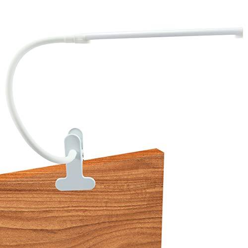 DOLILO Dimmable LED Lamp Clip-on Gooseneck Desk Lamp Color Temperature Adjustable Table Light Eye Care Nightlight USB Port Reading Lamp White Advanced