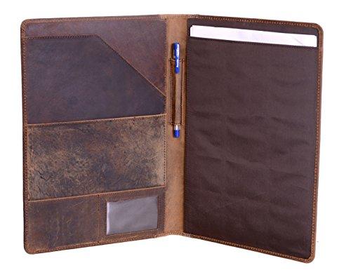 KomalC Luxury Leather Portfolio Personal Organizer  Luxury Leather Padfolio  Leather Folder  Business Portfolio