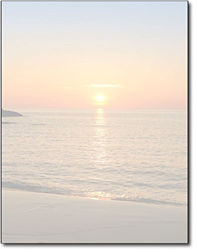 Beach Sunset Stationery Paper - 80 Sheets