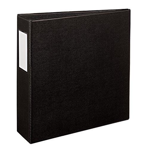Avery Durable Binder 3 Slant Rings 600-Sheet Capacity Label Holder DuraHinge Black 27654