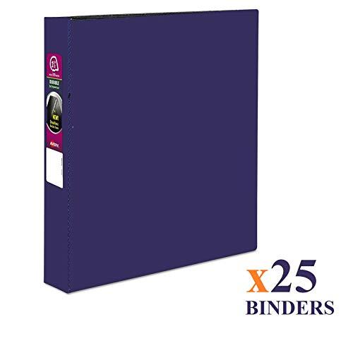 Wholesale CASE of 25 - Avery Durable Easy-turn Ring Binders-Durable Binder 1-12 Capacity 11x8-12 Blue