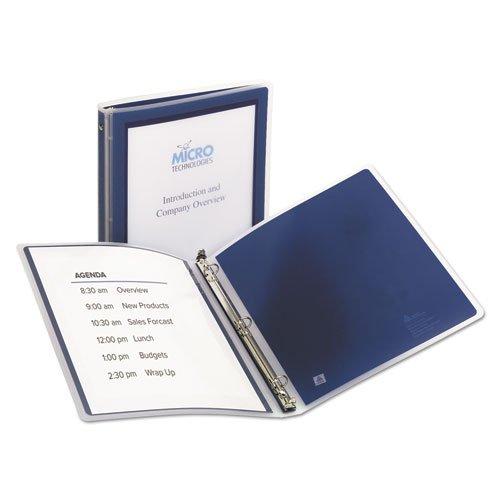 Flexi-View Binder wRound Rings 11 x 8 12 12 Cap Navy Blue