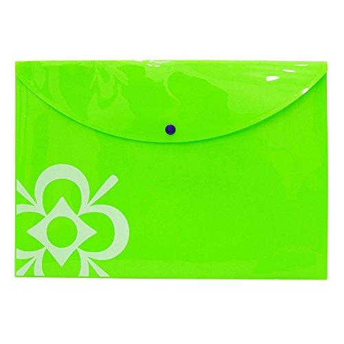 Green Polypropylene Document Folder Filing FS Paper File Bag Office Supplies Pack Of 5
