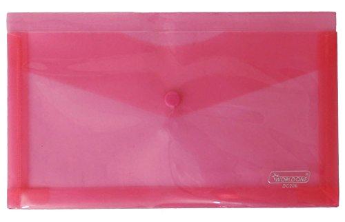 Red Chequebook Folder Cheque Book Organizer Slip Voucher Bag Office Supplies Pack of 10