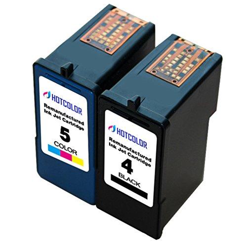 HOTCOLOR 2 Pack for Lexmark 4 18C1974 Lexmark 5 18C1960 Black Color Ink Cartridge For Lexmark X2690 X4690 X5690 Z2390 Z2490 Printers