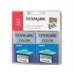 Lexmark 26 Color Ink Cartridges 2Pack 10N0139