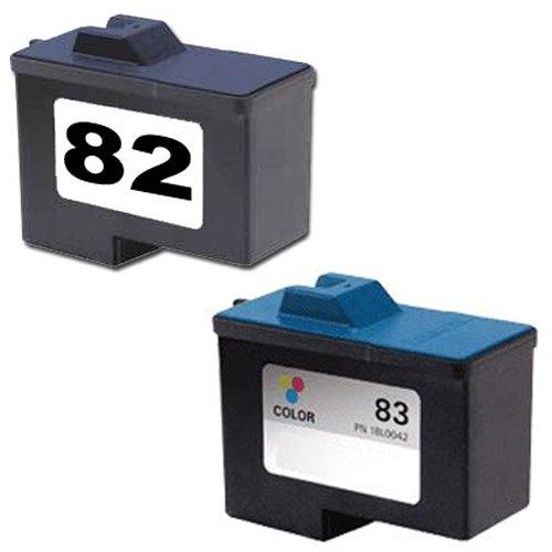 Amsahr 18L0032 Remanufactured Replacement Lexmark Ink Cartridges for Select PrintersFaxes - 1 Black1 Color