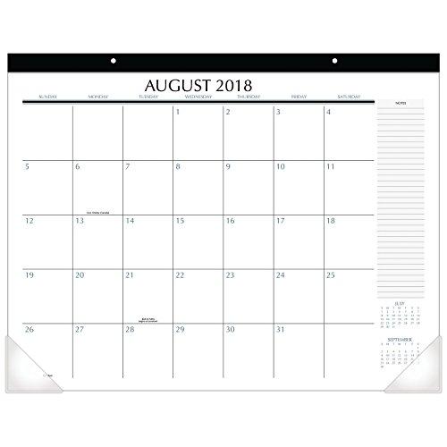 Upper Class 2018-2019 Academic Year Student Desk Pad Calendar Standard 21-34 x 17 TL2417