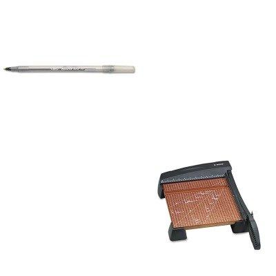 KITBICGSM11BKEPI26312 - Value Kit - X-acto Heavy-Duty Guillotine Trimmer EPI26312 and BIC Round Stic Ballpoint Stick Pen BICGSM11BK