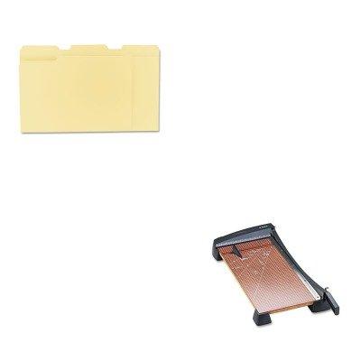 KITEPI26364UNV12113 - Value Kit - X-acto Heavy-Duty Guillotine Paper Trimmer EPI26364 and Universal File Folders UNV12113