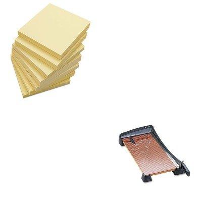 KITEPI26364UNV35668 - Value Kit - X-acto Heavy-Duty Guillotine Paper Trimmer EPI26364 and Universal Standard Self-Stick Notes UNV35668