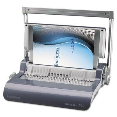 Quasar 500 Manual Comb Binding Machine 18 18 x 15 38 x 5 18 Metallic Blue Sold as 1 Each