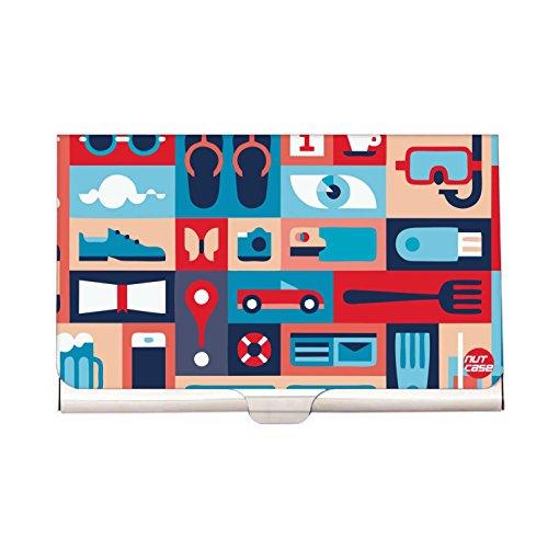 Designer Visiting Card Holder Nutcase Business Card Holder - Retro Elements  Nautica