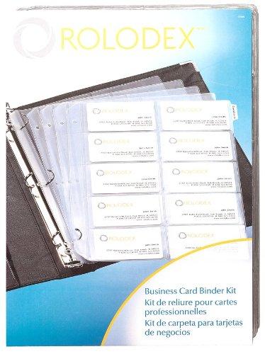 Rolodex Business Card Binder Kit 67696