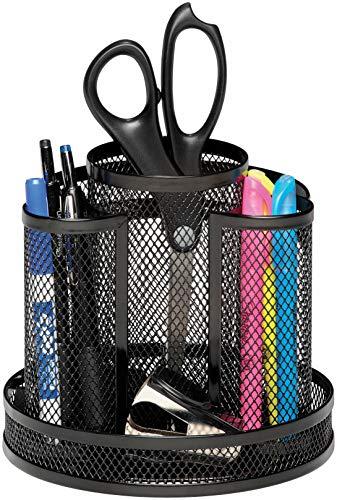 Rolodex Mesh Collection Spinning Desk Sorter Black 1773083