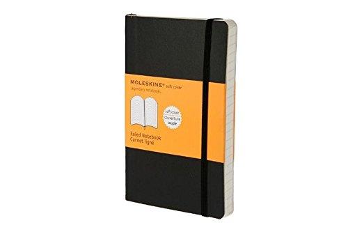Moleskine Classic Notebook Pocket Ruled Black Soft Cover 35 x 55 Classic Notebooks