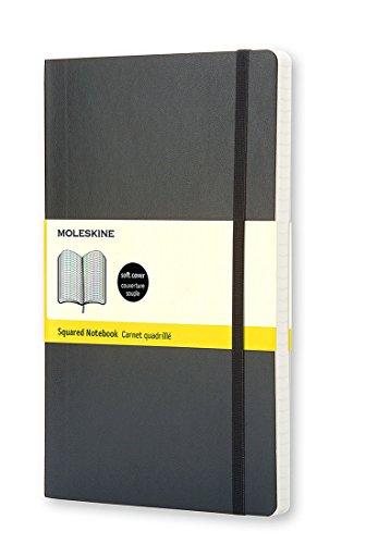 Moleskine Classic Notebook Pocket Squared Black Soft Cover 35 x 55 Classic Notebooks