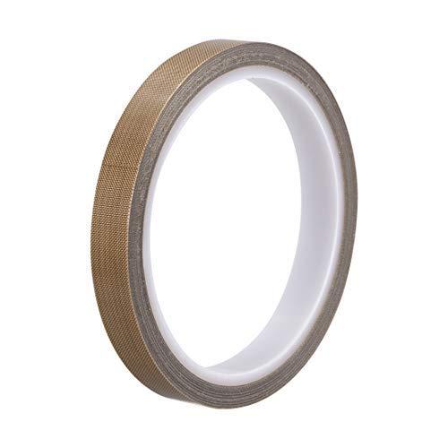 Heat Resistant Tape - High Temperature Heat Transfer Tape PTFE Film Adhesive Tape 12mm x 10m 33ft