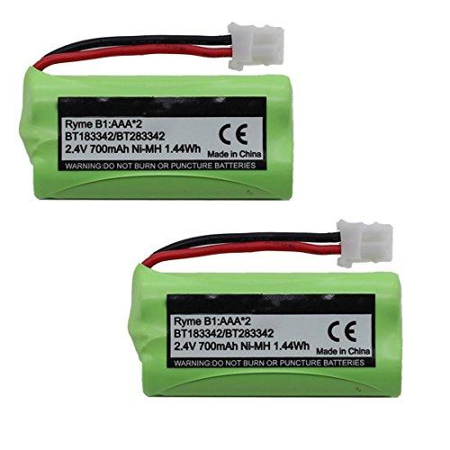 2-Pack BT183342 BT162342 BT166342 BT262342 BT283342 BT266342 Battery for Vtech Cordless Phone CS6114 CS6719 CS6124 CS6649 DS6151 AT&T CL4940 EL52300 Handset