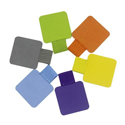 Self-Adhesive Leather Pen Holder Pencil Elastic Loop for NotebooksClipboardsJournalsCalendars6 PackAssorted Colors