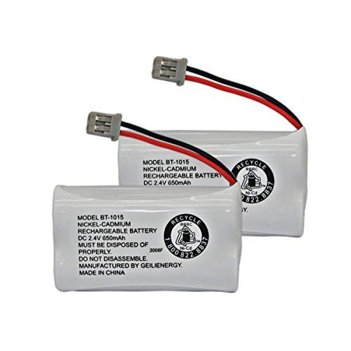 GEILIENERGY BT-1015 BT1015 Battery Compatible for Uniden BT1007 BT-1007 BT904 BT-904 BBTY0651101 BBTY0460001 BBTY0510001 BBTY0624001 BBTY0700001 Panasonic HHR-P506 HHR-P506A Cordless Phone2-Pack