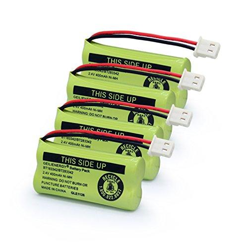 GEILIENERGY BT183342 BT283342 BT162342 BT262342 BT166342 BT266342 Phone Battery for Vtech CS6719 CS6419 CS6649 DS6151 AT&T CL4940 EL52300 Cordless Phone Pack of 4